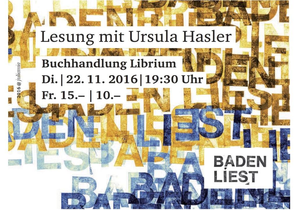 Lesung mit Ursula Hasler