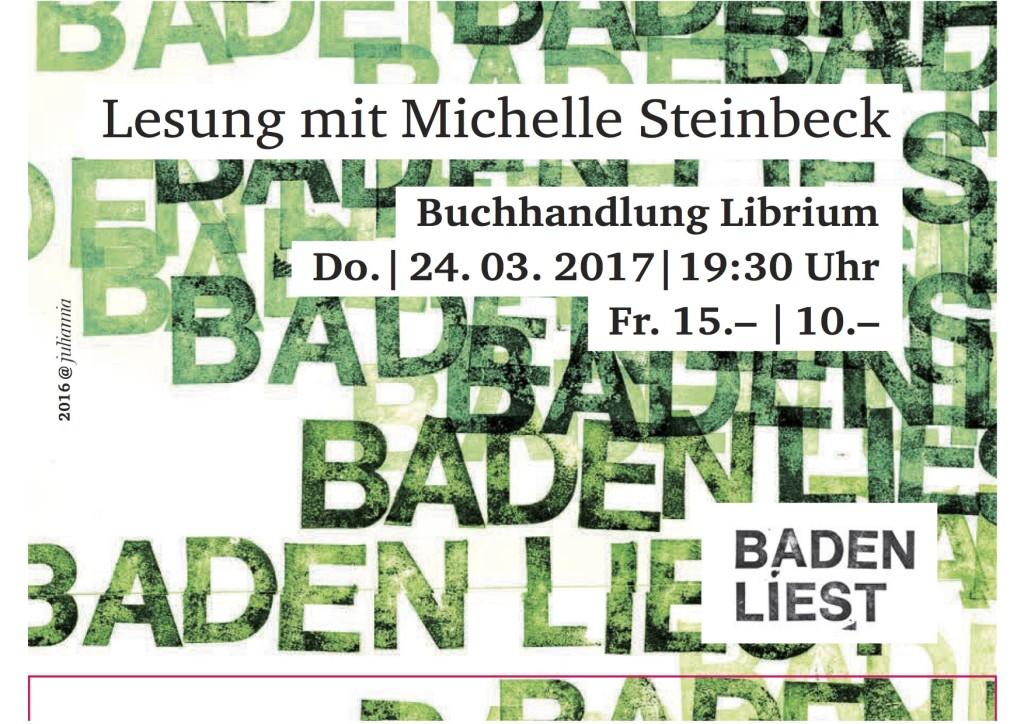 Lesung mit Michelle Steinbeck