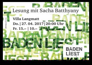 Lesung mit Sacha Batthyany